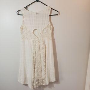 Element cotton and lace dress